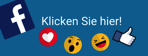 Logografik mit Facebook, Like, Smilie